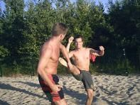 Training am Strand